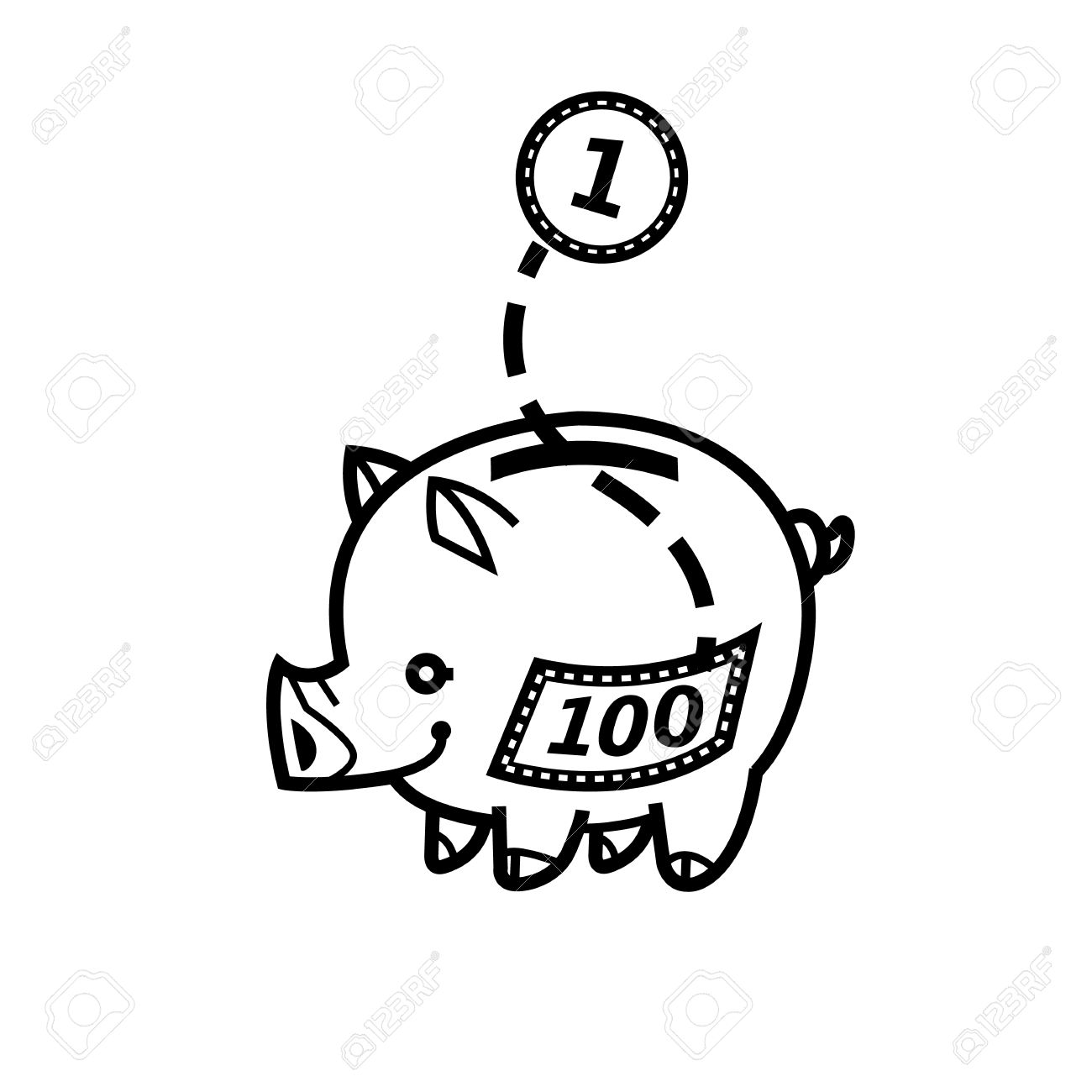Piggy Bank Symbol Of Wealth Finance And Money Saving And Money.