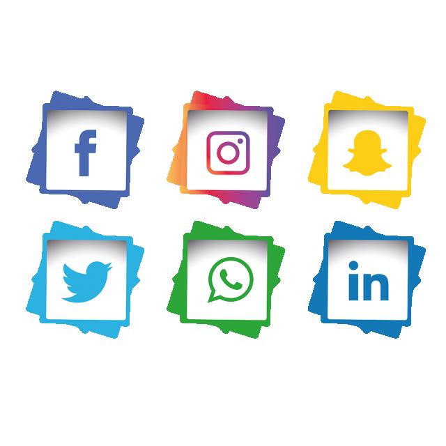 Social Media Icons Set, Social Media Icons, Icons, Social.