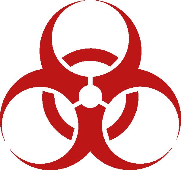 Biohazard Sign clip art.