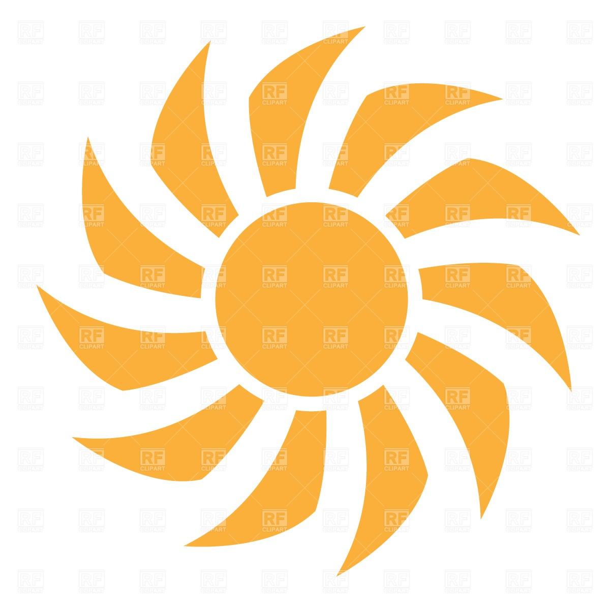Simple symbolic sun Vector Image #589.