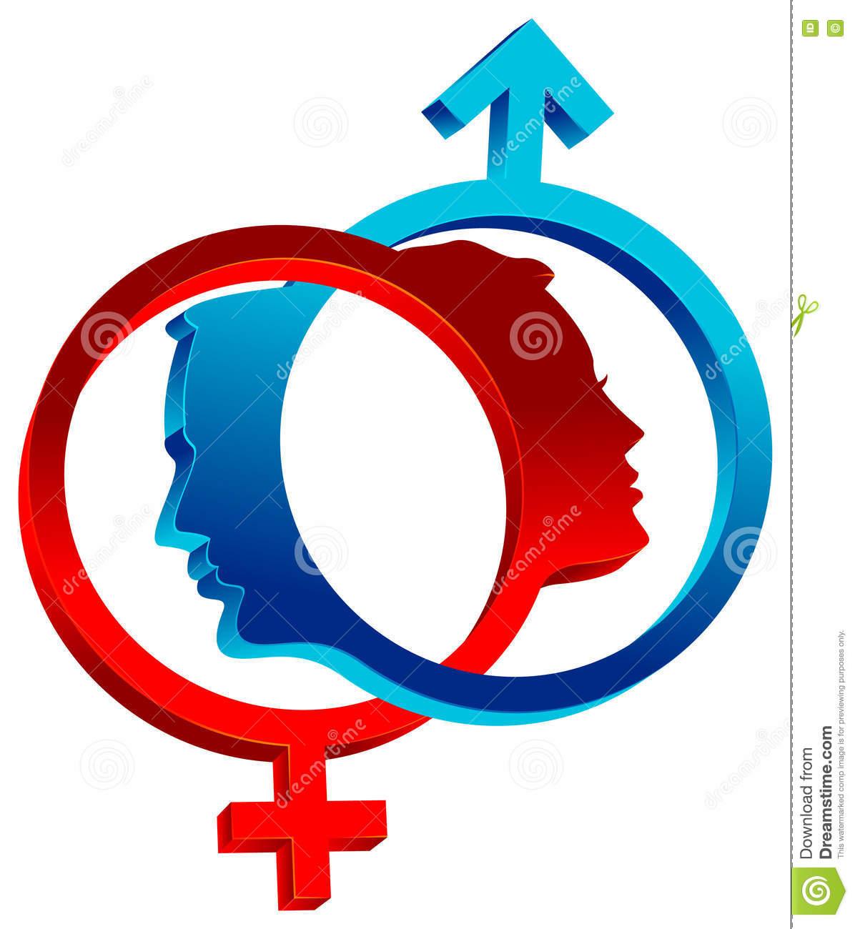 Linked Sex Symbols Stock Illustration.