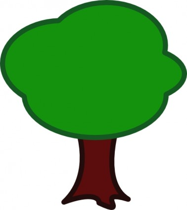 Tree map clipart.