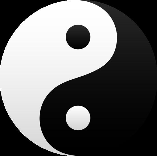 Black and White Yin Yang Symbol.