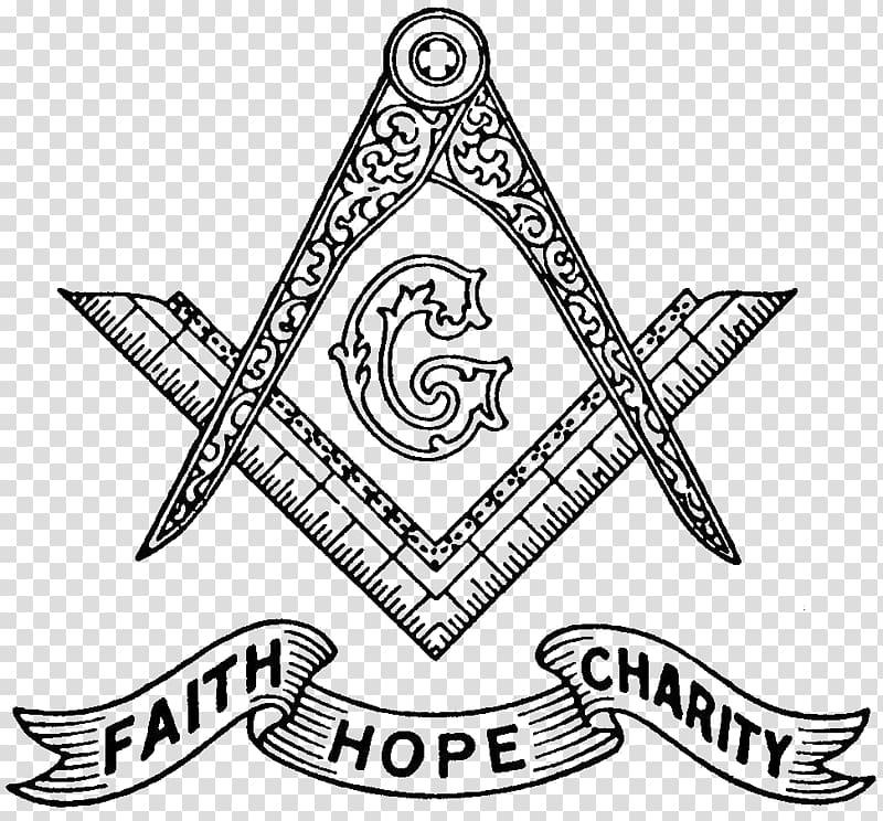 Freemasonry logo, Freemasonry Symbol Faith Hope Charity.