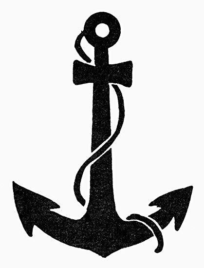 Amazon.com: Anchor Nchristian Symbol Of Hope Poster Print by.