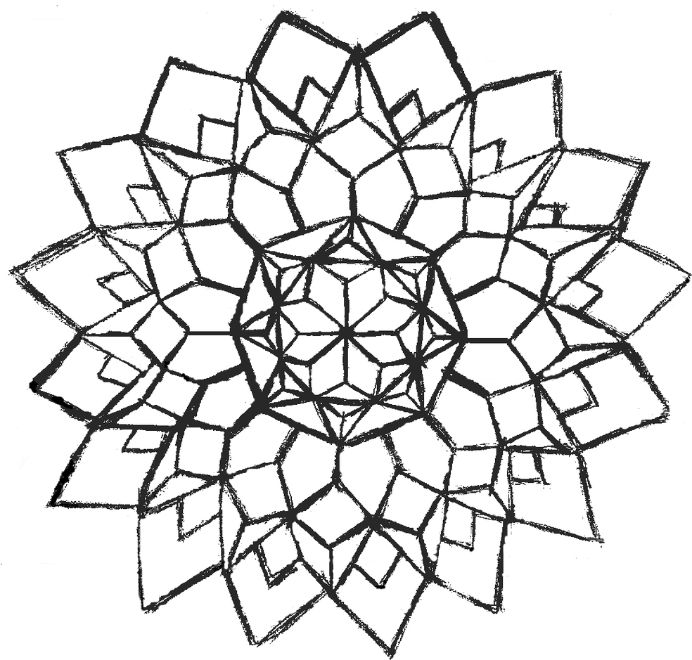 Advanced Coloring Pages Geometric Design Clipart.