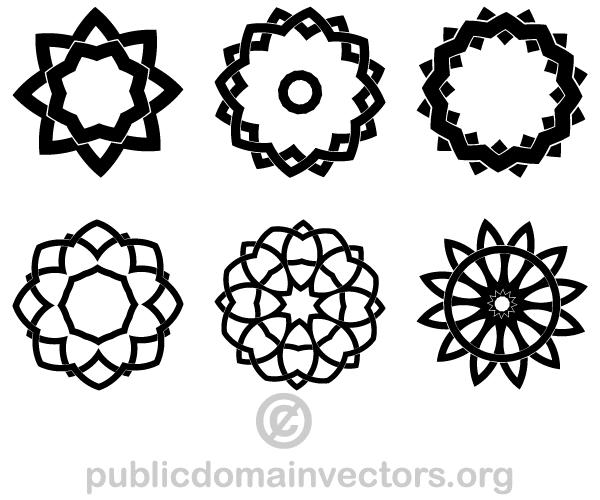 Geometric design clipart.