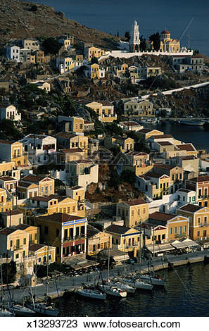 Stock Photo of Symi, Greece.