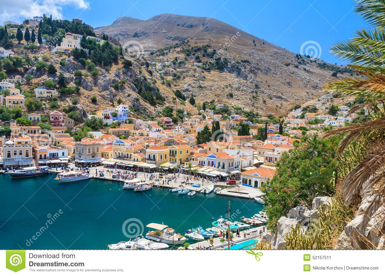 The Capital Of The Island Of Symi.