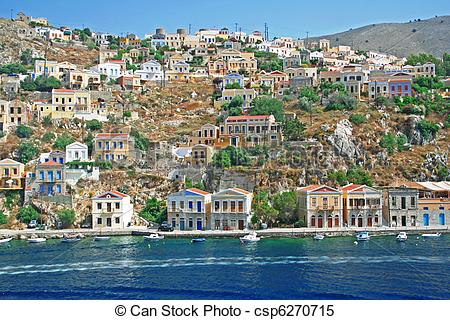 Stock Images of Greece. Island Symi.