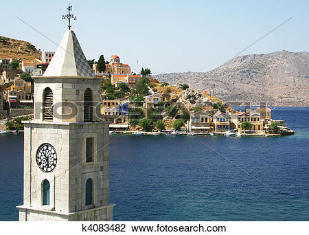 Stock Photo of Greece. Island Symi k4083482.