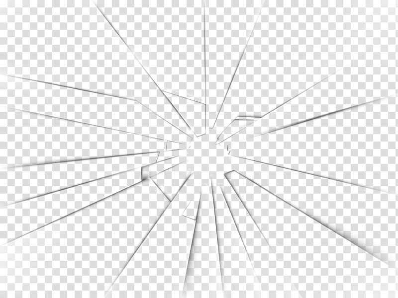 Symmetry Structure Line Angle Pattern, Broken Glass , black.