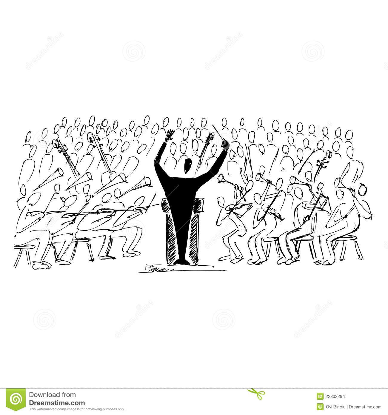 Symphonic Concert Stock Images.