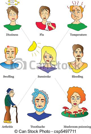 Symptoms Clip Art.