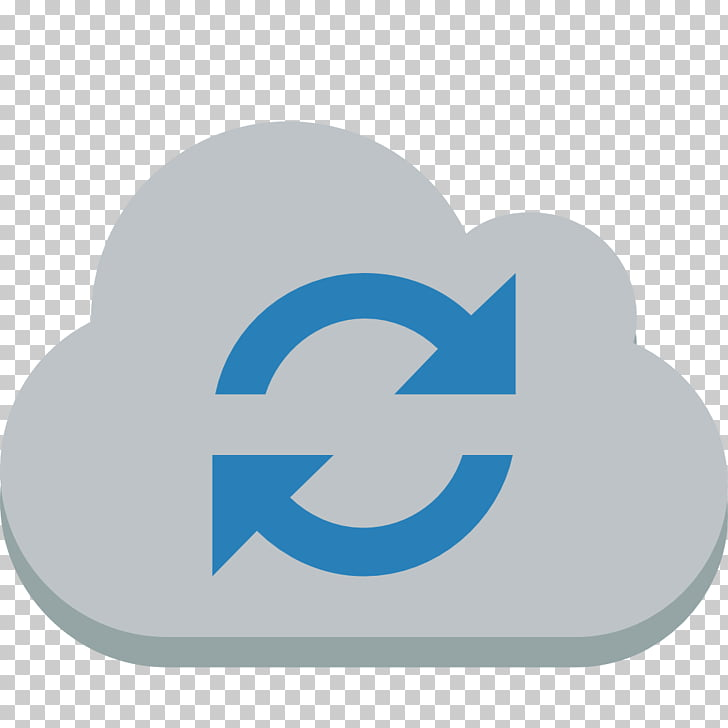 Symbol logo, Cloud sync, grey clouds illustration PNG.