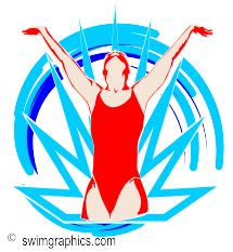 Synchronized Swimming Solo Clipart: Page Three..
