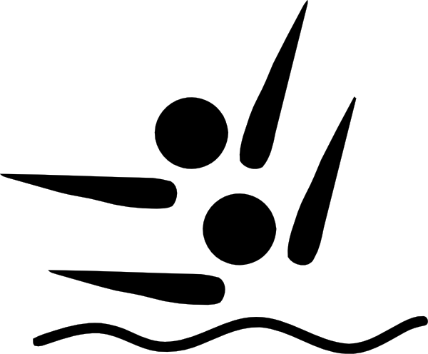 Olympic Sports Synchronized Swimming Pictogram Clip Art at Clker.