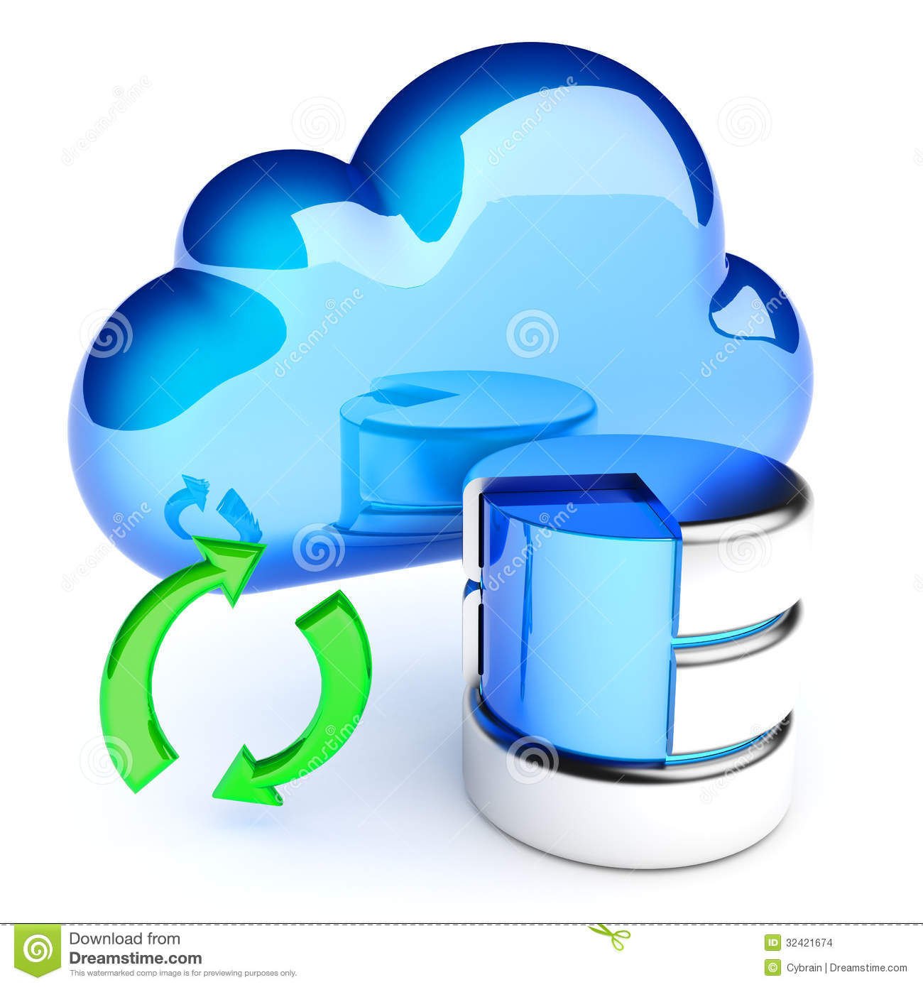 Database Migration Sync Stock Images.