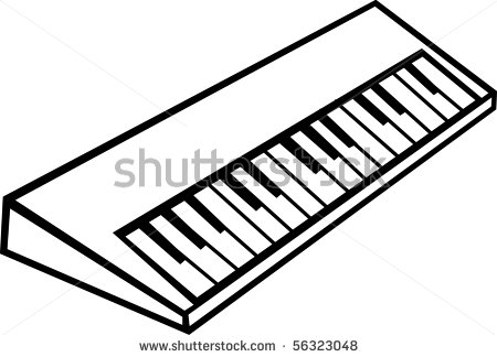 Synthesizer Clipart.