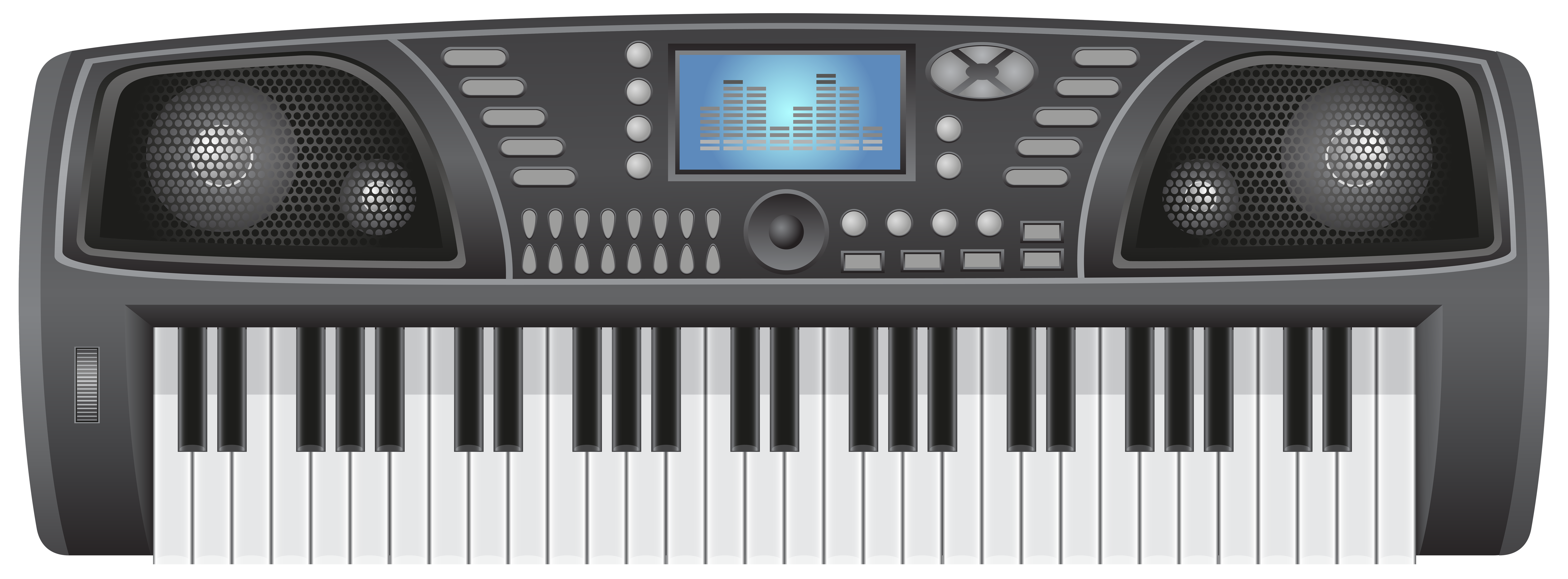 Synthesizer Transparent Clip Art Image.