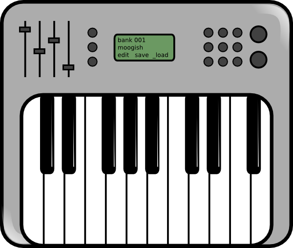Synthesizer Icon Clip Art at Clker.com.