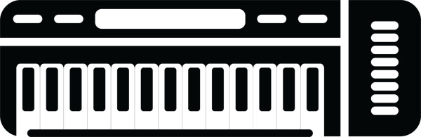 Synthesizer Keyboard Music & Instrument Art For Custom Gifts.