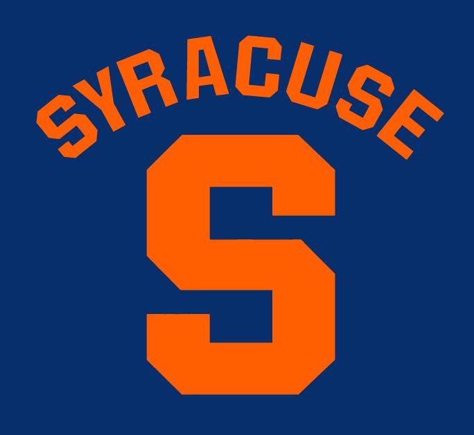 Blue and Orange Football Logo.