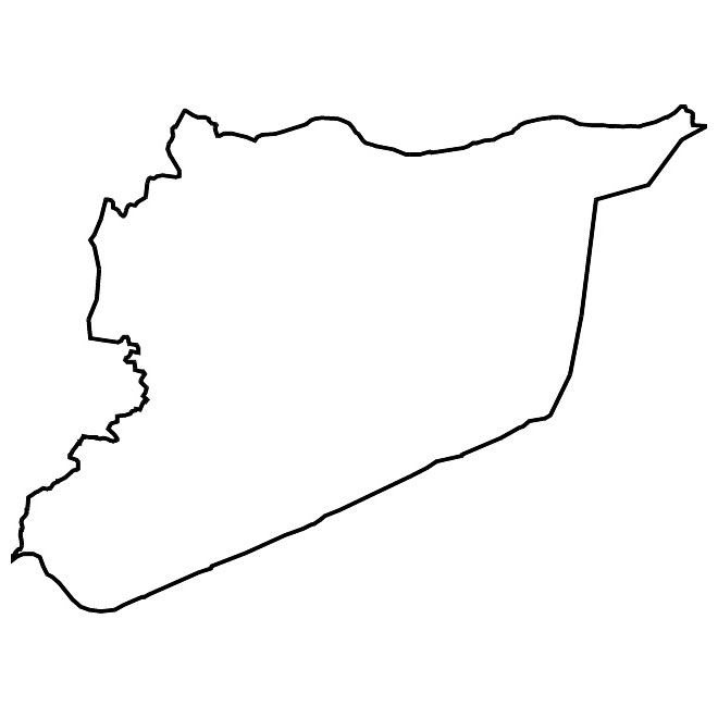 Syria vector map.