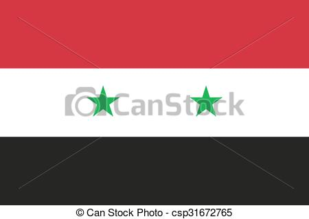 Clip Art Vector of National flag of Syrian Arab Republic (Syria.