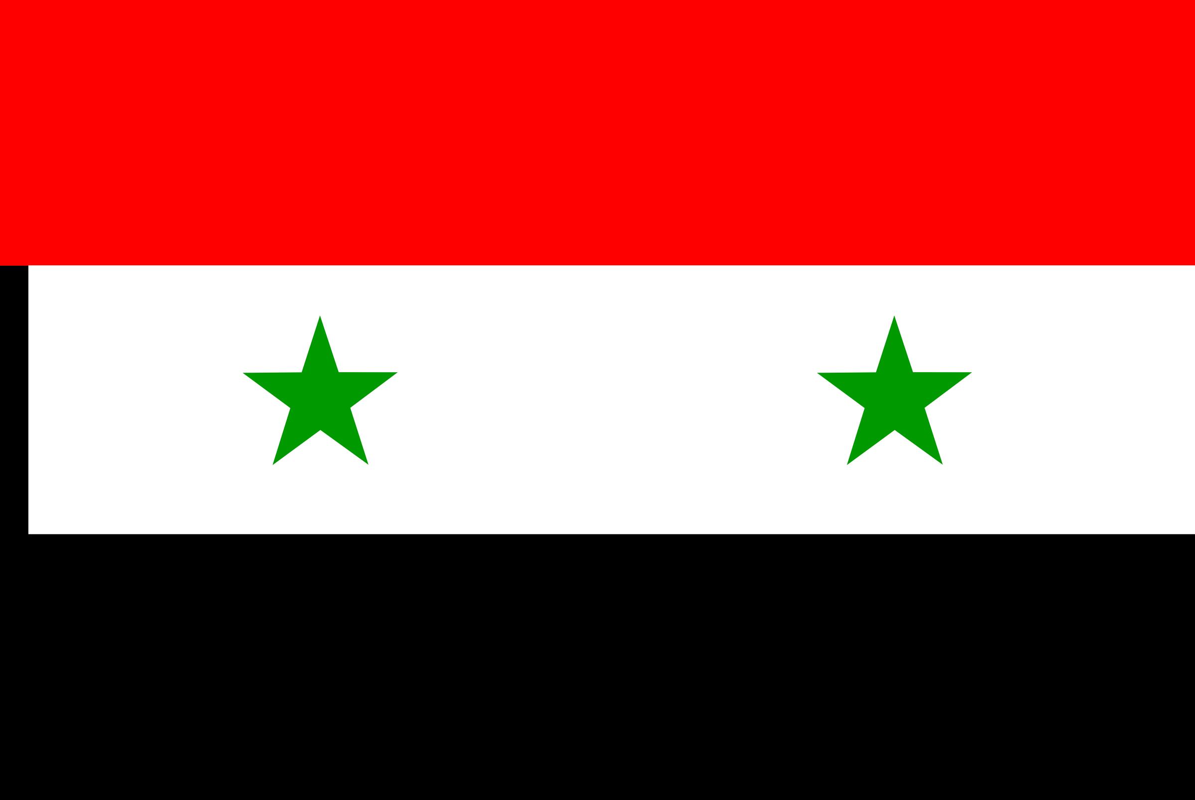 Syria Flag Clipart.