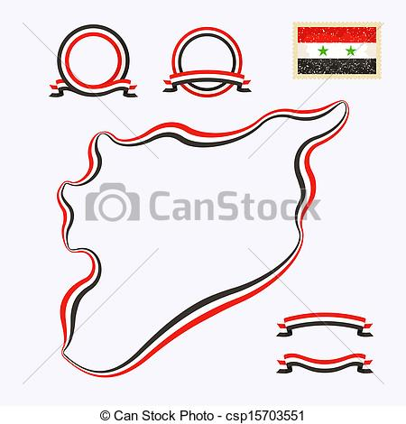 Clipart Vector of Colors of Syria.