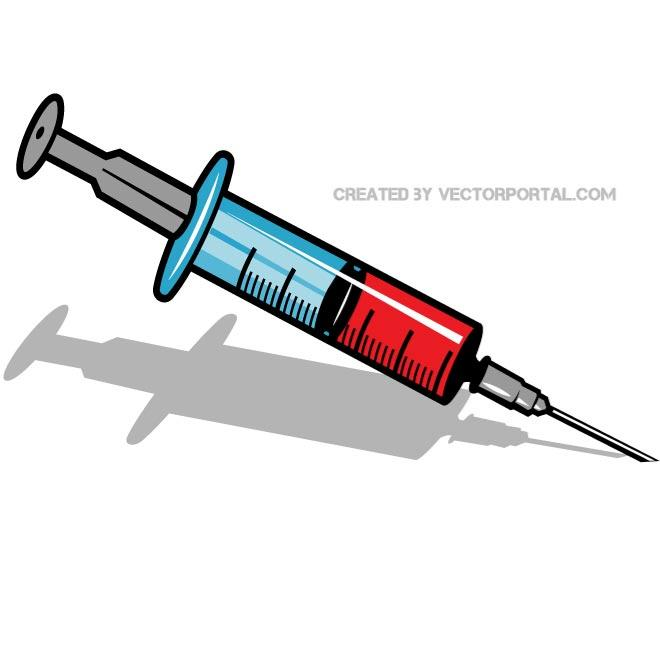 Syringe Clip Art Free Vector.
