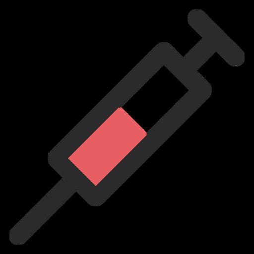 Syringe colored stroke icon.