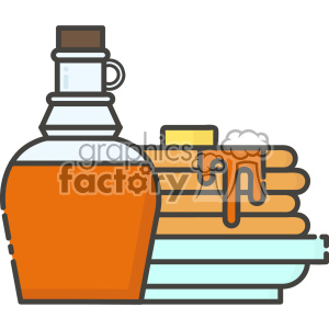 Pancakes and syrup vector clip art images clipart. Royalty.