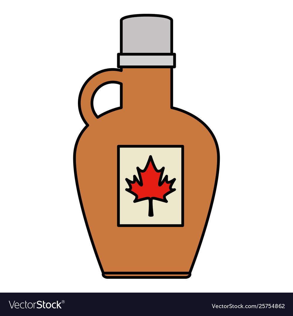 Sweet maple syrup bottle product.