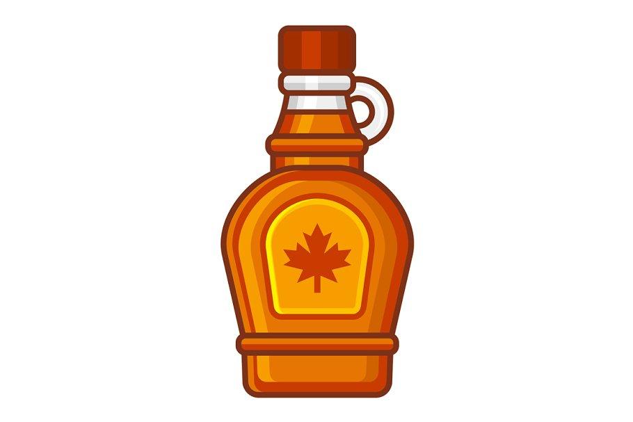 Maple Syrup Bottle Icon.