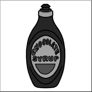 Clip Art: Chocolate Syrup Grayscale I abcteach.com.