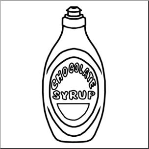 Clip Art: Chocolate Syrup B&W I abcteach.com.
