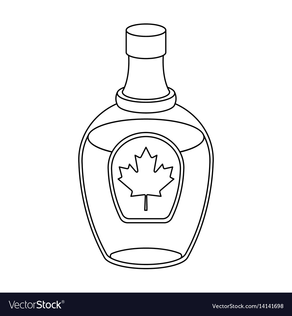 Canadian maple syrup in a bottle canada single.