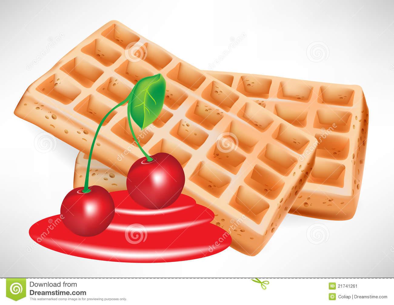 Syrup Waffle Stock Illustrations.