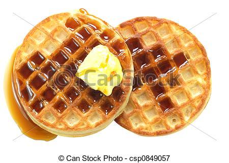Waffles Clipart.