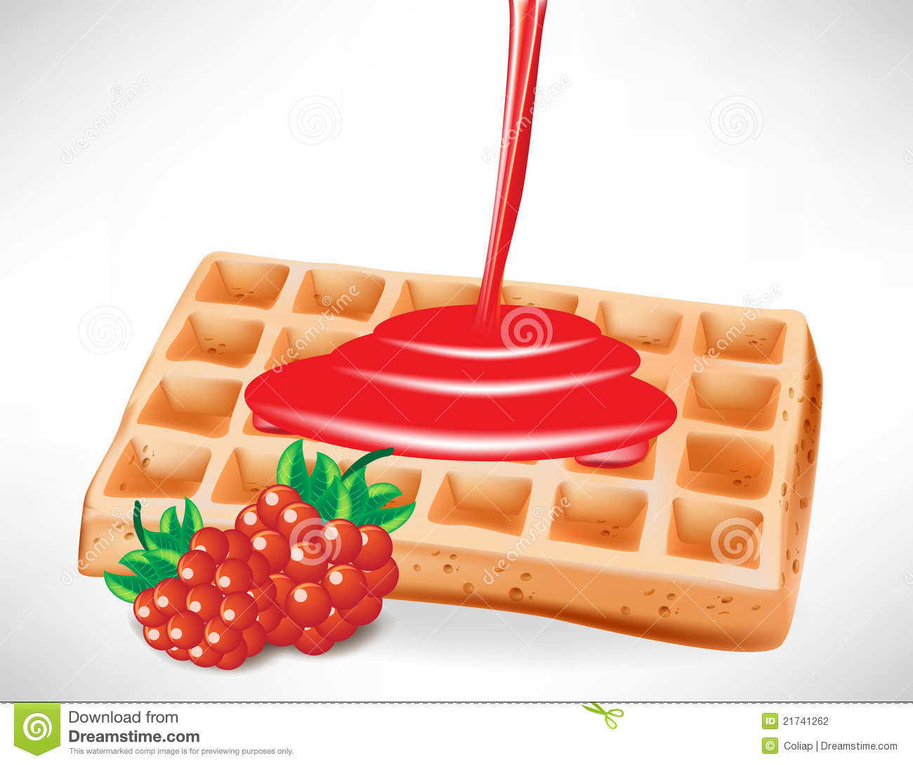 Belgian waffle clipart.