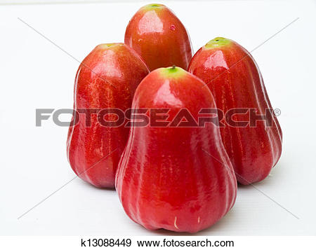 Stock Photograph of Rose apples (Syzygium jambos ) isolated on.