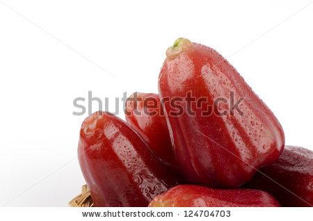 Rose Apples Or Chomphu Isolated On White Background (Syzygium.