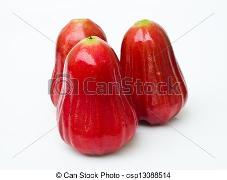 Stock Photography of Rose apples (Syzygium jambos ) isolated on.