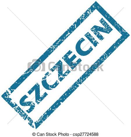 Vector of Szczecin rubber stamp.