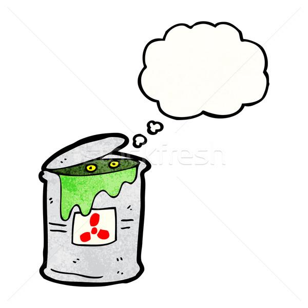 toxic waste cartoon vector illustration © lineartestpilot.