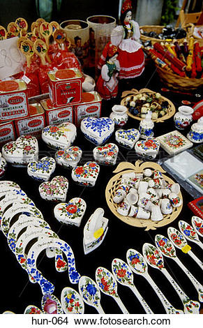 Stock Photo of Souvenirs Szentendre Hungary hun.
