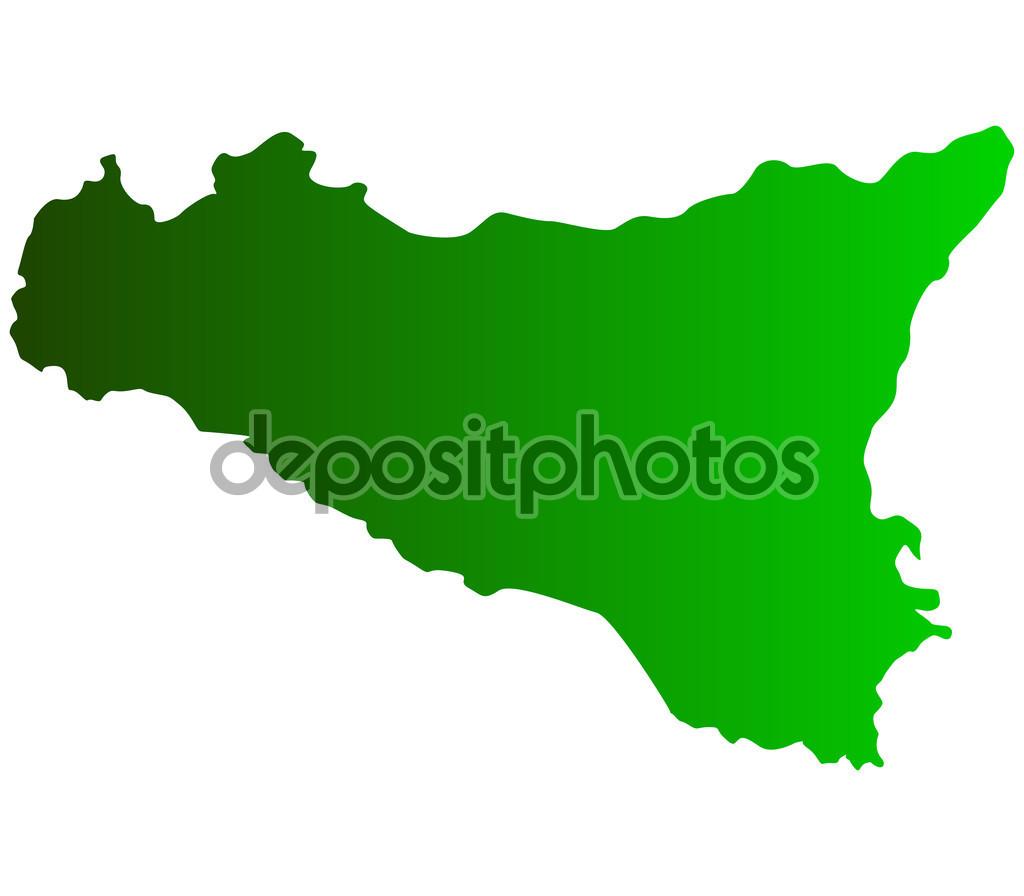 Szicília Térkép jelenik meg a háttérben — Stock Fotó.