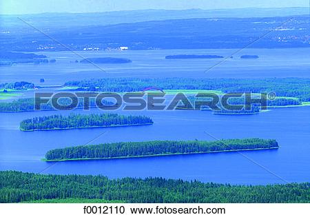Stock Photography of Sweden, Dalecarlia, lake Siljan f0012110.